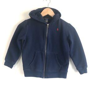 Ralph Lauren Polo Boy Fleece Full-Zip Hoodie Navy